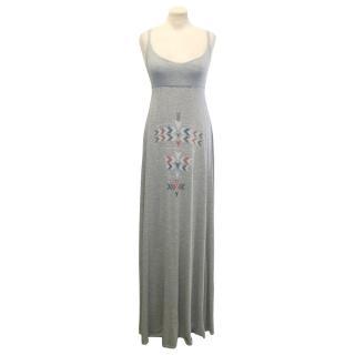 Wildfox Grey Maxi Dress with Aztec Print