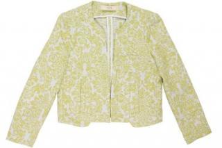 Vanessa Bruno Yellow Floral Jacket