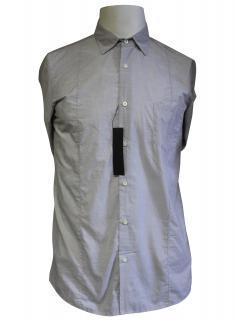 Falke Grey Striped Cotton Shirt