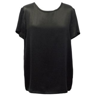 Ralph Lauren Black Silk T-Shirt