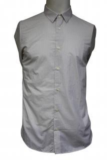 Falke Grey White Striped Shirt