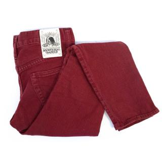 Hysteric Glamour Red Skinny Jeans with Zip Ankle Fastening