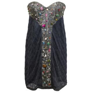 Missoni 'Clorinda' Coloured Beaded & Stone Embellished Dress
