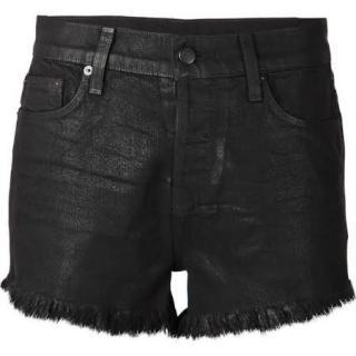 Ksubi black denim shorts