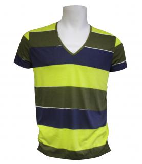 Mens Falke Green/Blue Stripe T-Shirt