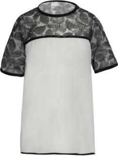 RICHARD NICOLL black black silk chiffon top