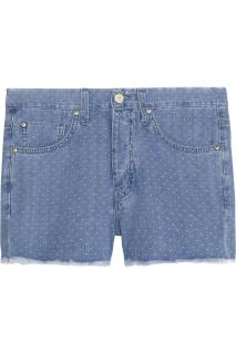 MIH JEANS The Halsy High Rise Cut-Off Denim Dot Shorts W29 / 10