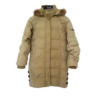 Catherine Malandrino Down Feather Filled Beige Coat