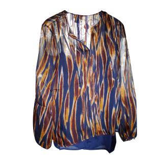 ISSA LONDON Multicolor Runway Print Blouse