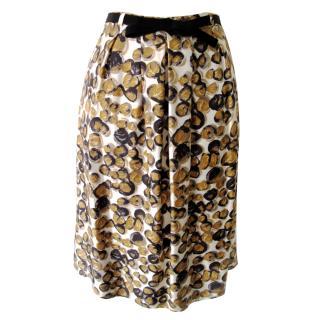 PIAZZA SEMPIONE designer silk skirt UK14/42