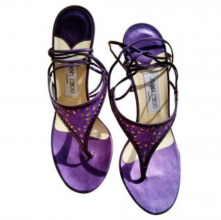 Jimmy Choo purple sandals