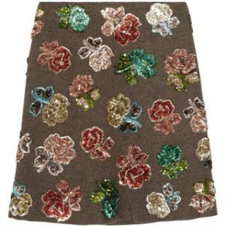 Marni Floral Sequin Embellished Skirt