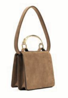 Raoul Minimal Tan Nubuck 100% Leather Medium Bag