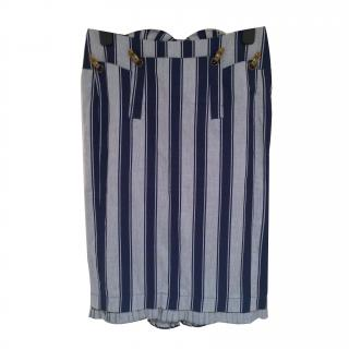 L.A.M.B. Grey and Navy striped Skirt
