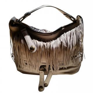 Gerard Darel Grey fringed bag