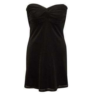 Jay Ahr Shimmer Black Strapless Dress