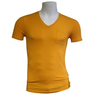 Falke orange cotton short sleeved fitted t-shirt