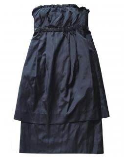 Vera wang black strapless silk blend dress Uk10/US6