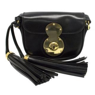 Ralph Lauren Black Ricky Pocket Cross Body Bag with Tassels