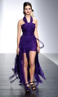 PPQ Draped Chiffon Dress