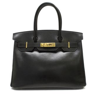 Hermes 30cm Black Birkin Bag