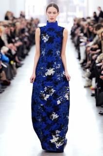 Erdem embroidered blue lace Julieta gown dresssize 14