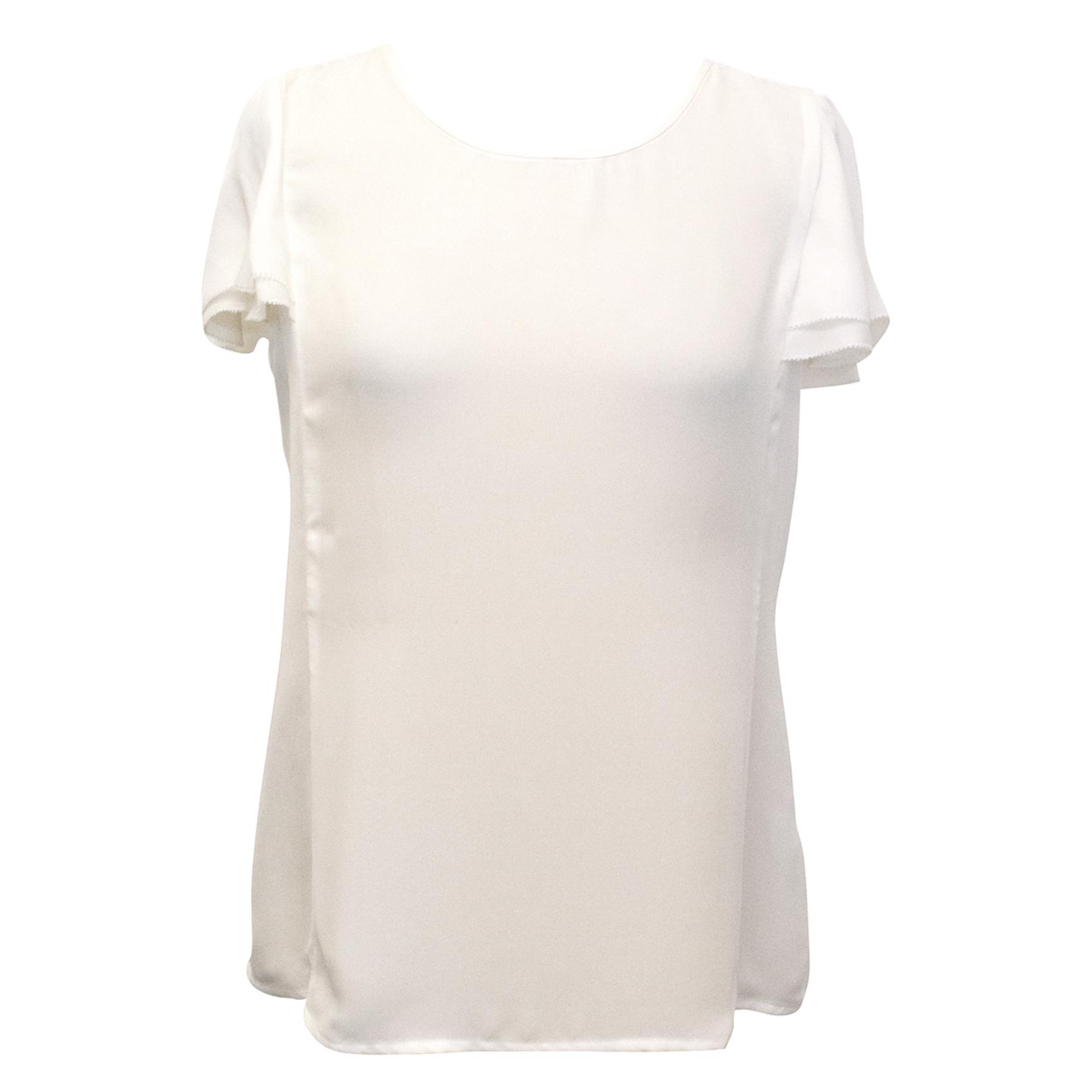 Joie Off White Silk Top