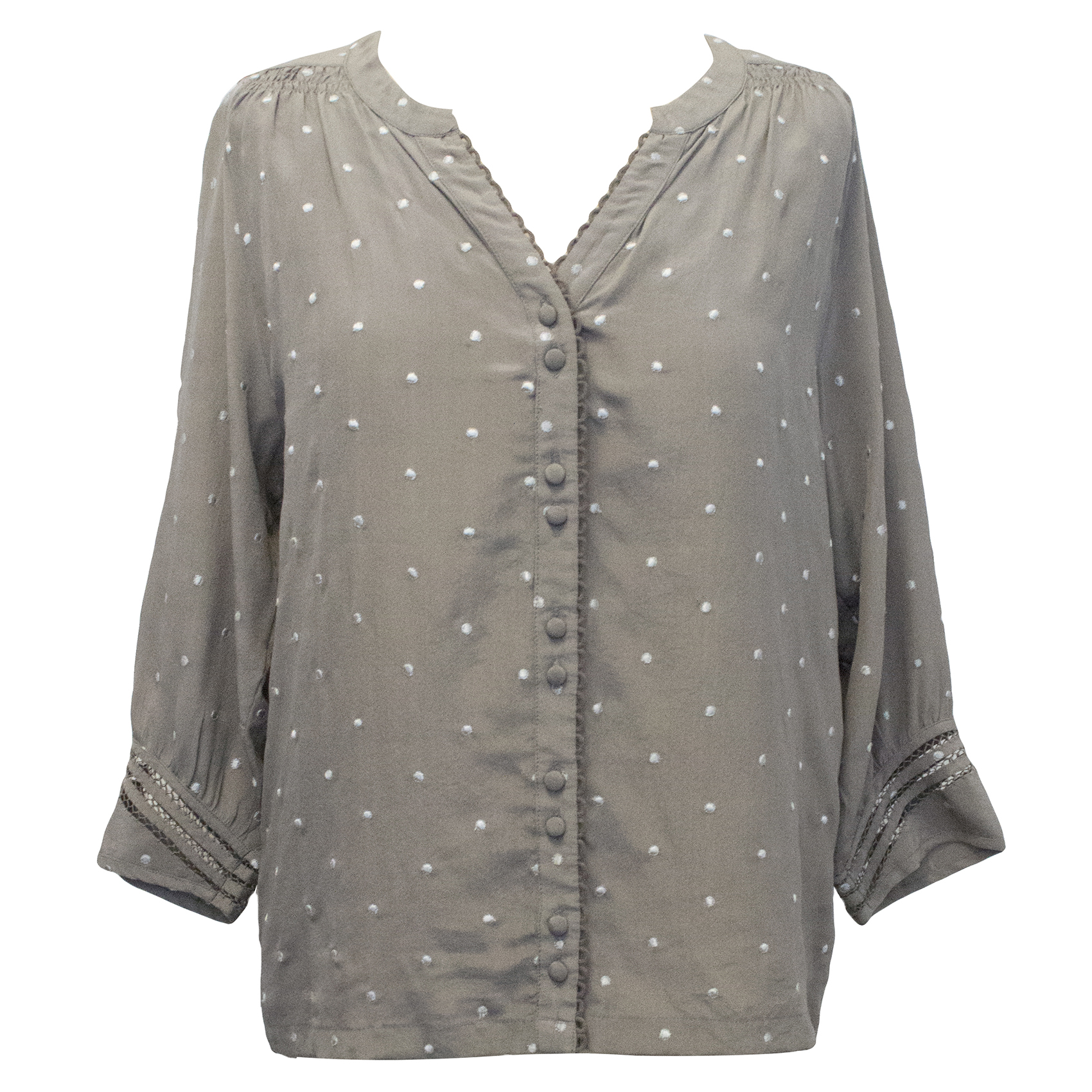 Pyrus Grey Silk Top