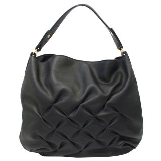 Smythson Black Small 'Nancy' Hobo Bag