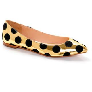 Loeffler Randall Gold Quinnie Pointed Toe Flat