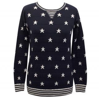 Autumn Cashmere Navy Stars and Stripes Sweatshirt