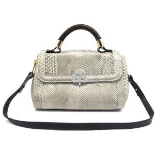 Pauric Sweeney Grey Python Shoulder Bag