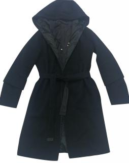Max Mara 'S Cube' Reversible Coat in Navy