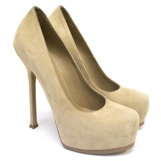 Yves Saint Laurent Nude Tribute Platform Heels