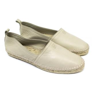 Loewe Soft Leather Stone /Cream Espadrilles