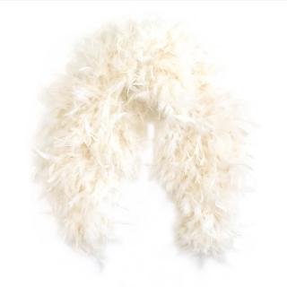 Ralph Lauren Cream Feather Shawl