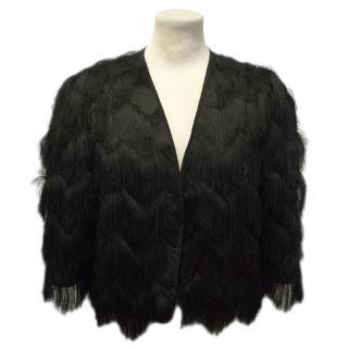 Milly Black Fringed Jacket