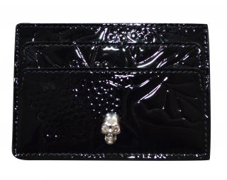 Alexander McQueen patent leather card holder