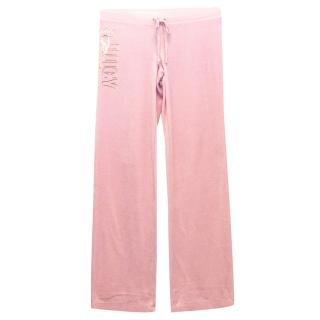 Juicy Couture 'Terry' Pink Velour Pants