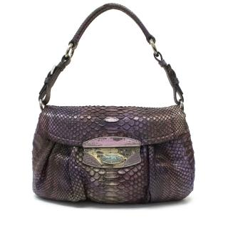 Prada Snakeskin Purple Shoulder Bag