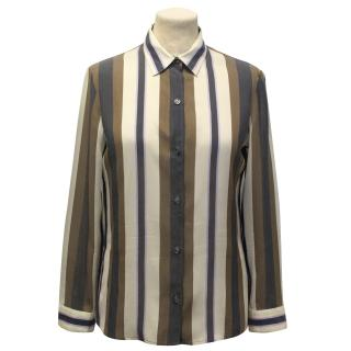 The Row 'Jorty' Stripe Silk Shirt