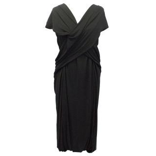 Sophia Kokosalaki Black Jersey Dress