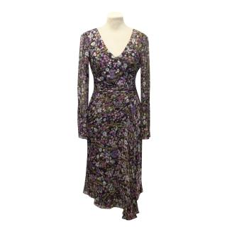 Diane von Furstenberg Silk Floral Dress