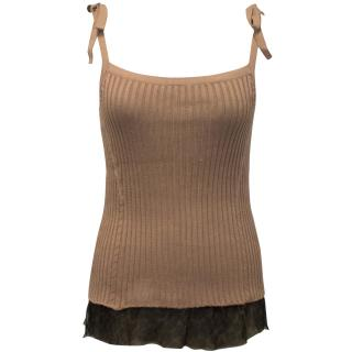 Loewe Silk and Knit Tank