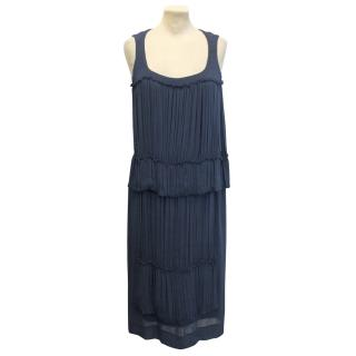 Aquascutum Blue Draped  Dress