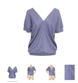 Ossie Clark Lilac Cissy Silk Blouse -UK10