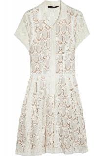 BCBG Max Azria White Lace Detail Dress