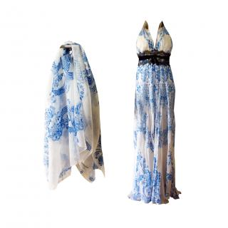 Roberto Cavalli evening gown and matching shawl