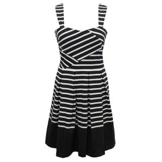 Band of Outsiders Black and White Striped Dress
