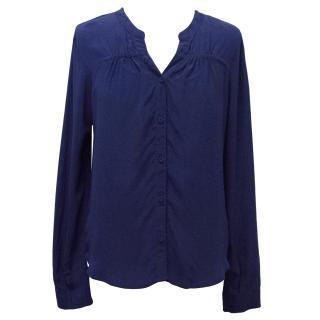 Pyrus Royal Blue Silk Top